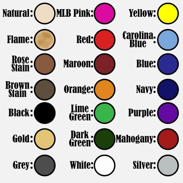 Custom Trophy Color Swatches, Camp
