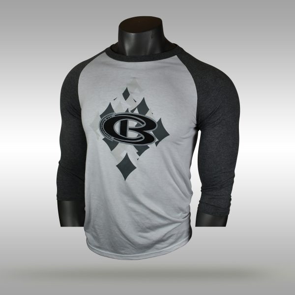 Cooperstown Bat Pro Diamond 3/4 sleeve baseball shirt