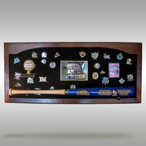 Plaque Display - Baseball bat, baseball, photos, pin display, memorabilia