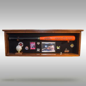 Shadow Box Baseball Bat Display Case with Acrylic front - Natural and Dark Stain Finish