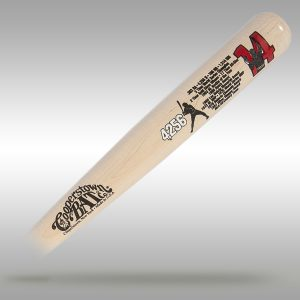 Pete Rose Custom Stats Bat
