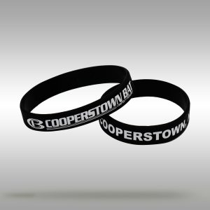 Cooperstown Bat CB Logo Wrist Band Bracelet - Black