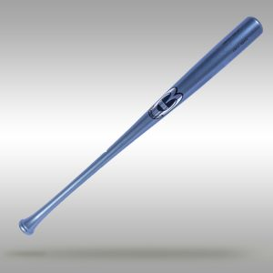 CBi13 Maple Pro Wood Baseball Bat - All Gloss Blue Stain - Silver Logo