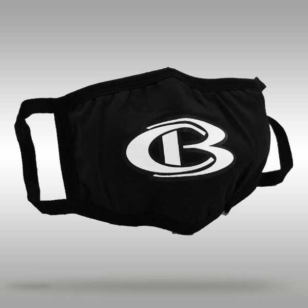 Cooperstown Bat CB Logo Face Mask - Black with white logo