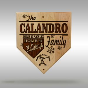 Home for the Holidays Softball Plaque