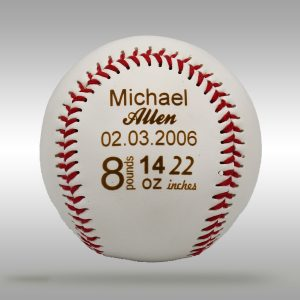 Custom Engraved Baby Gift Baseball