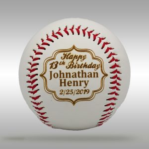 Custom Engraved Birthday Baseball